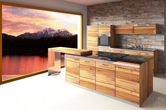 Altholzküche modern gestaltet