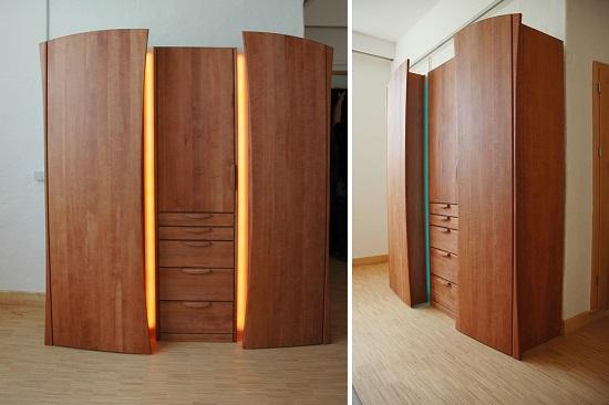 Kleiderschrank mit Effektbeleuchtung LED