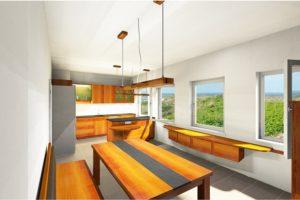 Küchenplanung Vollholzküche Birnbaum
